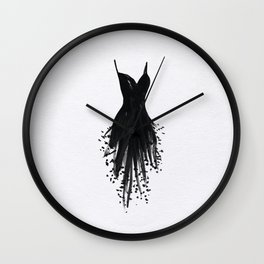 Little Black Fringe Dress Wall Clock