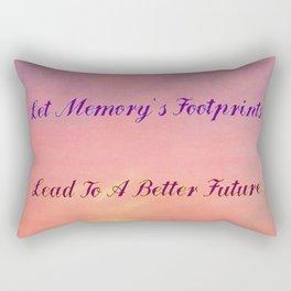 Memory's Footprints Rectangular Pillow