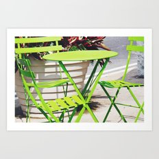 Lime Green Situation in NYC Art Print
