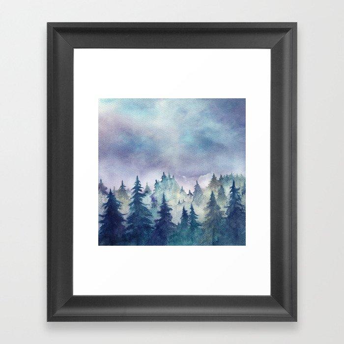 Into The Forest Gerahmter Kunstdruck