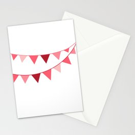 Red berry Pennant Banner Stationery Cards