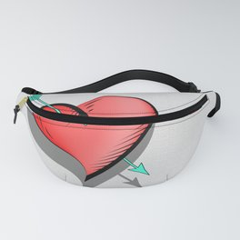 Heart and arrow, a touch of romance Fanny Pack