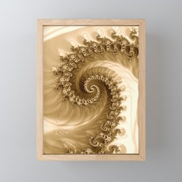 Sound of Seashell Sepia  Framed Mini Art Print