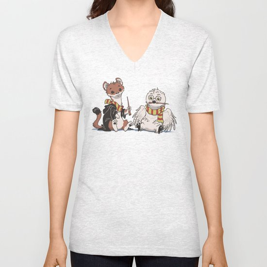 The Owl and The Weasel Unisex V-Neck