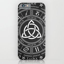 Triquetra Pagan Wheel Of The Year iPhone Case