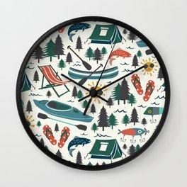 Lake Life - Summer Ivory Wall Clock