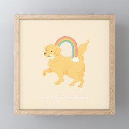 Golden Retriever Framed Mini Art Print