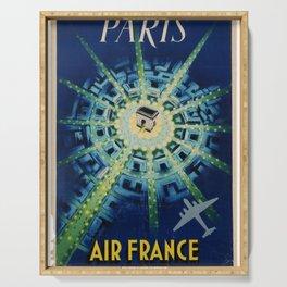 manifesto Paris Air France Airline Pierre Baudouin Arc de Triumph Champs Elyse Serving Tray