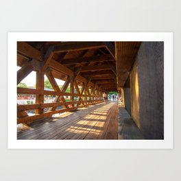 Sunset Bridge Art Print