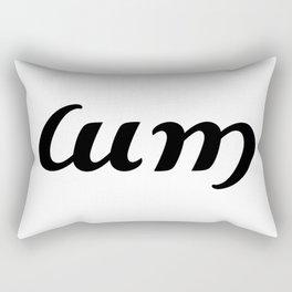 Ambigram Cum Rectangular Pillow