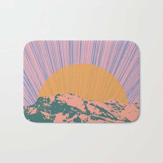 Rising Sun Bath Mat