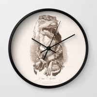 bouletcorp Wall Clocks featuring Diane O' Nychus by Bouletcorp