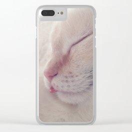 Donner sa langue au chat Clear iPhone Case