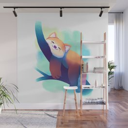Dreaming Red Panda Wall Mural