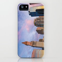 Boston Skyline from the Greenway at sunset iPhone Case