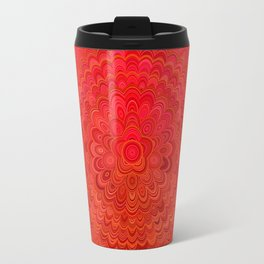 Fire Flower Mandala Travel Mug