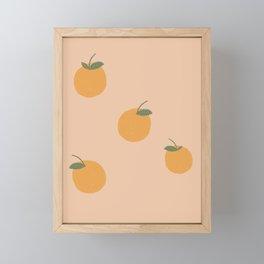 Cottage Oranges Framed Mini Art Print
