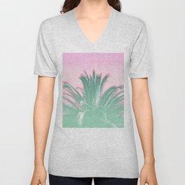 Palm Tree Leaves Tropical Vibes Design Unisex V-Neck