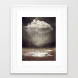 It's Okay. Even the Sky Cries Sometimes. Framed Art Print