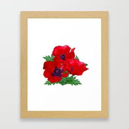 Red oriental poppies Framed Art Print