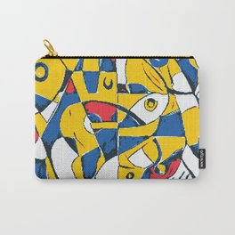 Pixelated Abstract Art Carry-All Pouch
