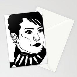 Lisbeth Salander  Face Draw Stationery Cards