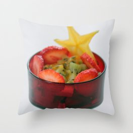 Fruit Salad Photography with happy colorful colors Throw Pillow