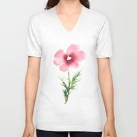 cosmos V-neck T-shirts featuring Cosmos by Jessica Lanan