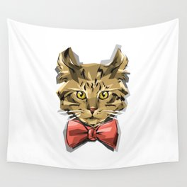 Bow Kitty Wall Tapestry