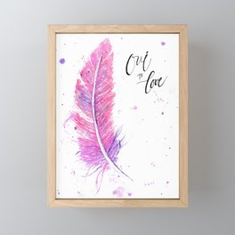 French Plume Framed Mini Art Print