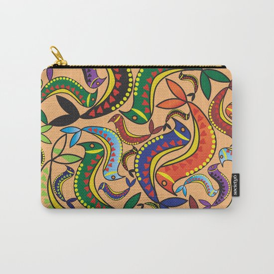 color bird pattern Carry-All Pouch
