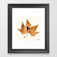Horse on a dried leaf Framed Art Print