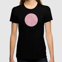 Pink Marble Brick Pattern T-shirt