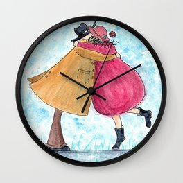 Hugs and Kisses for my Valentine Wall Clock