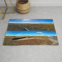 Rest Stop on Iceland's Golden Circle Panorama (Collage) Rug
