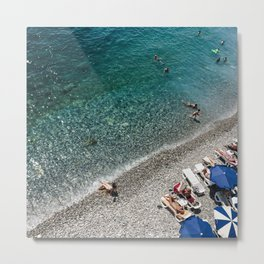 Summer Time in French Riviera Beach, Nice, France | Travel Photography Metal Print