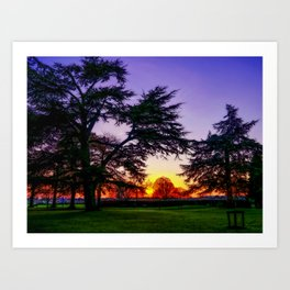 Sunset landscape Art Print