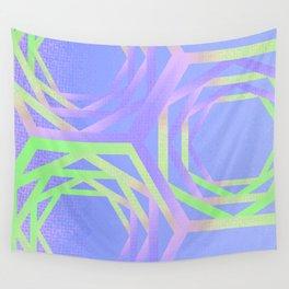 Geometric unicorn violet cute Wall Tapestry