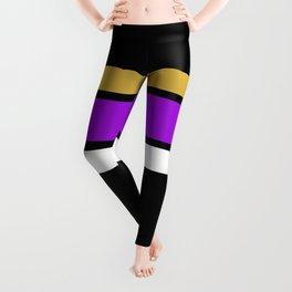Team  Colors 2...Gold,purple Leggings