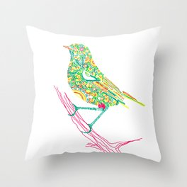 Birds sitting on branch Throw Pillow