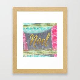 NOEL - Merry modern abstract christmas Framed Art Print