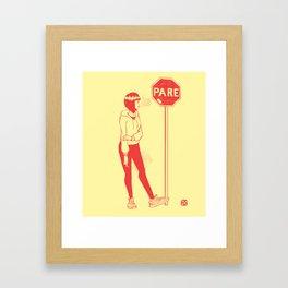 Pare Framed Art Print