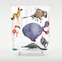 African animals 3 Shower Curtain