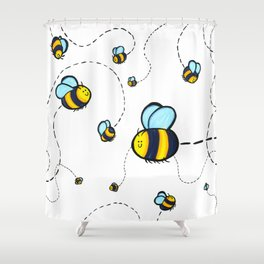Bumble Pattern Shower Curtain