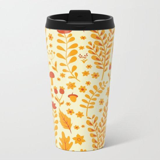 Forest Glade Pattern Metal Travel Mug