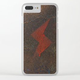Rusty Lightning Bolt Clear iPhone Case