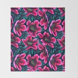 Manuka Floral Print Throw Blanket