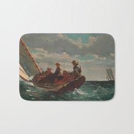 Winslow Homer - Breezing Up (A Fair Wind) Bath Mat