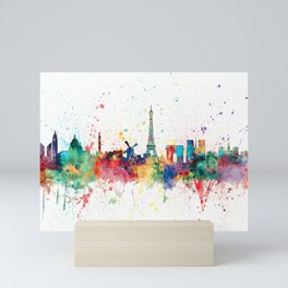 Paris France Skyline Mini Art Print