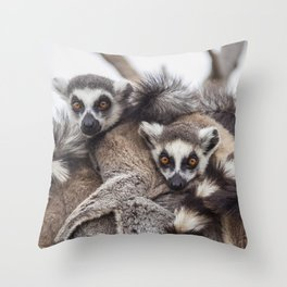 Lemur catta animals Throw Pillow